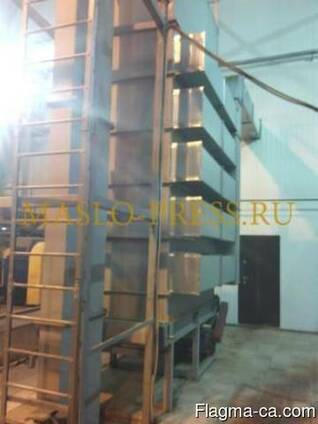 Cooler machine for sunflower and soybean oilcake