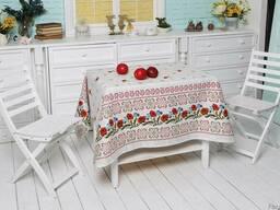 Скатерти , полотенца в украинском стиле, лён - рогожка, хлоп - фото 4