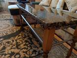 Tables and sinks made of resins, wood and stone - photo 5